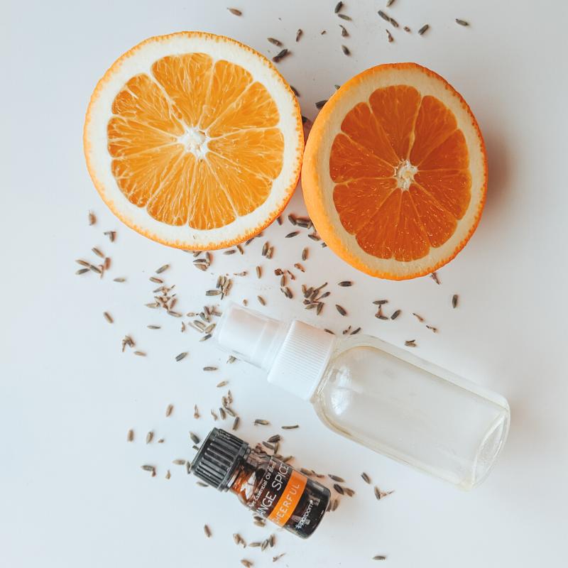 essential oils bathroom spray DIY